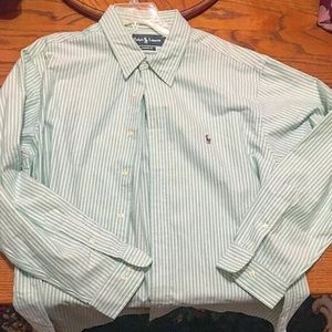 Polo Ralph Lauren Mens Striped Collar Shirt